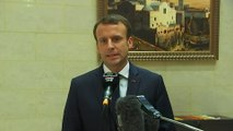 Déclaration du Président de la République, Emmanuel Macron, au palais Zéralda à Alger