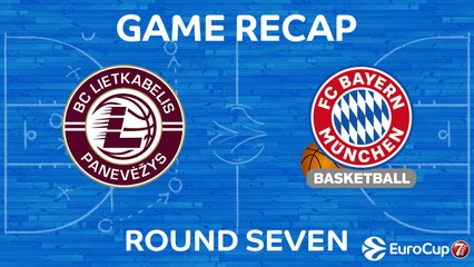 7DAYS EuroCup Highlights Regular Season, Round 7: Lietkabelis 87-88 Bayern