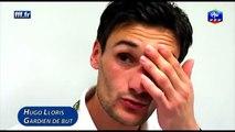 Equipe de France - réaction d'Hugo Lloris après Espagne-France