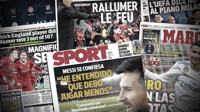 Les franches confidences de Lionel Messi, MU fait un sale coup à City avant le derby
