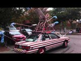 Man Drives Candy Cane Car Around Rhode Island