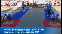 Nyons Pétanque 2017 Tir de précision : Dylan ROCHER à 1 petit point du record du monde !