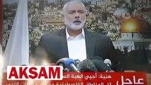 Trump'ın skandal Kudüs kararı sonrası Hamas lideri Haniye'den intifada çağrısı