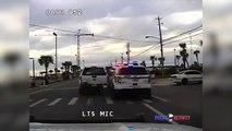 Ce policier essaie de stopper un fuyard quitte à detruire sa propre voiture... PIT Maneuver