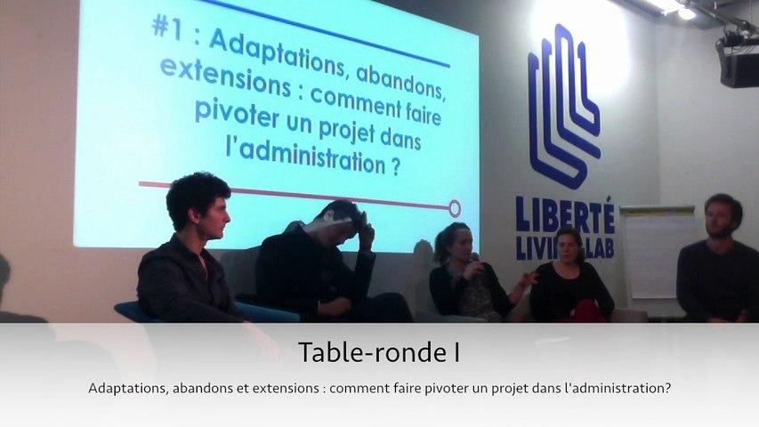 #EIG Table ronde 1 - Adaptations, abandons et extensions: comment faire pivoter un projet dans l'administration?