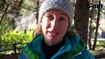 Marine Clarys, première femme guide de haute-montagne dans les Alpes-Maritimes.