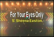 Sheena Easton For Your Eyes Only Karaoke Version
