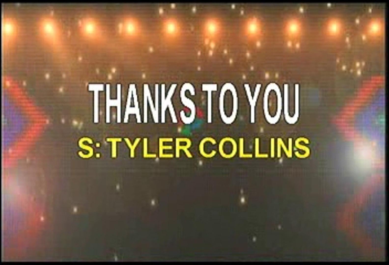 Tyler Collins Thanks To You Karaoke Version