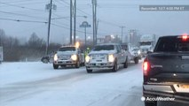 Lake-effect snow causes car accidents and slide-offs near Lake Erie