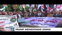 Warga Palestina Gelar Unjuk Rasa Soal Pernyataan Donald Trump
