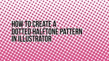 How to draw a dotted halftone pattern in Adobe Illustrator