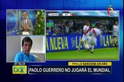 Paolo Guerrero: médico deportivo analiza su suspensión por un año