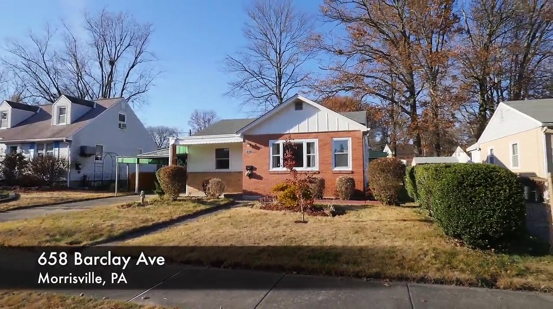 Home For Sale 3 Bed Move-In Ready 658 Barclay Ave Morrisville PA 19067 Bucks County Real Estate MLS