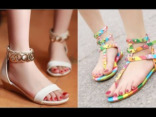 latest beautiful flat sandals for girls and women