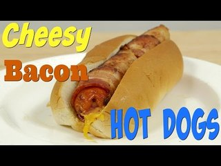 How to Make Epic Hot Dogs: Cheese Stuffed, Bacon Wrapped Hot Dog   Food Porn
