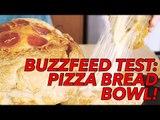 Buzzfeed Recipes Test: Cheesy Pepperoni Pizza Bread Bowl Recipe- Joe Cooks   Food Porn