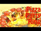 Party Food Ideas: How to Make Cheesy Pepperoni and Meatball Pizza Party Ring!   Food Porn