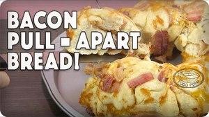BACON + CHEESE + RANCH + BREAD= Bacon Pull Apart Bread! #foodporn