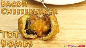 Deep Fried Fun Foods! How to Make Bacon Wrapped Cheeseburger Tater Tot BOMBS | Food Porn