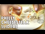 Your New Favorite Philly: Easy Peasy Philly Cheesesteak Sliders! #foodporn