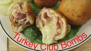 Bacon Turkey Club Sandwich Bombs | Sandwich Bombs Recipe