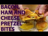 How to Make: Ham and Cheese Bacon Pretzel Bites