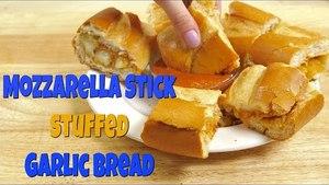 How to Make: Garlic Bread Mozzarella Stick Sandwich | Food Porn
