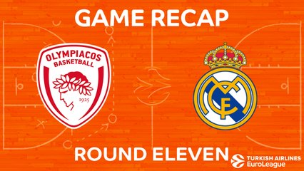 EuroLeague 2017-18 Highlights Regular Season Round 11 video: Olympiacos 92-83 Madrid