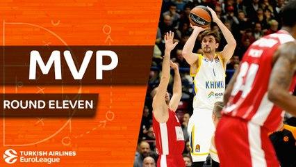 Round 11 MVP: Alexey Shved, Khimki Moscow Region