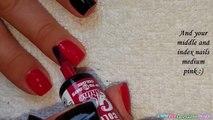 POLKA DOT NAIL ART #2 - Pink, Black & White Dotticure Nails-985EoCVu5Mo