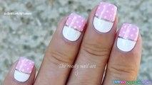 POLKA DOT NAIL ART #4 _ Baby Pink & White Dotting Tool Nails Design-BXUoMeVHCfw