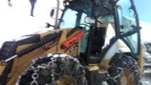 Karla Mücadele Ekiplerini Zor Anları...kayan İş Makinası Karla Mücadele Ekiplerince Kurtarıldı