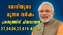 മോദി ഗവണ്മെന്റ് പരസ്യത്തിന് വേണ്ടി മാത്രം ചിലവഴിച്ചത് 3755 കോടി | Oneindia Malayalam