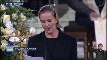 """Carole Bouquet prend la parole à La Madeleine, avant que les musiciens ne reprennent """"Personal Jesus"""""""