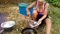 Amazing Beautiful girls cooking at Cambodia