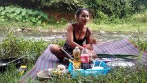 Beautiful girls make chicken food with Coca-Cola - Amazing Beautiful girls cooking at Cambodia