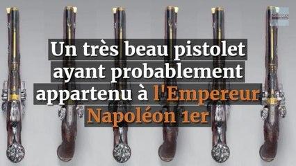 Adjugé 102 000 euros, le 24 novembre : un très beau pistolet  ayant probablement appartenu à l'Empereur Napoléon 1er