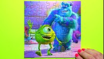 MONSTERS UNIVERSITY Disney Puzzle Games Rompecabezas Sullivan, Mike, Boo Kids Learning Toys Puzzles