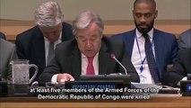 Casques bleus tués en rdc réaction du SG de l'ONU