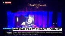 """En concert hier à Paris, Mariah Carey a chanté """"Que je t'aime"""" en hommage à Johnny Hallyday"""