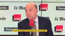 """Pierre Moscovici """"Le PS ne doit pas laisser l'Europe à la droite et au centre. Ne laissons pas la gauche à Mélenchon et Hamon"""""""