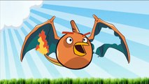 Angry Birds Pokemon Go Transform - Pokemon Transform to Angry Birds For Learning Colors Part 4-FviwqngtbuI