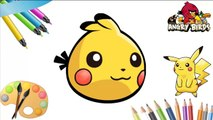 Angry Birds Pokemon Go Transform - Pokemon Transform to Angry Birds For Learning Colors Part 5-RvN1P6Sii7o