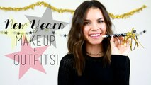 New Years Eve Makeup & Outfits