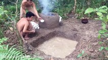 Primitive Technology with Survival Skills Calcium Oxide and Water(CaO+H2O)
