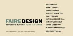 Faire Design -  Intégrale de la conférence