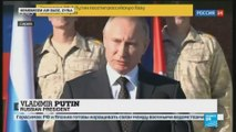 Russian President Vladimir Putin making surprise visit to Syria to order partial Russian pull-out