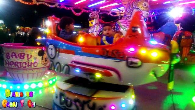Diversión En la Feria De Mi Pueblo ???? Atracciones Para Niños y Fuegos Artificiales ???? KIDS VLOGS