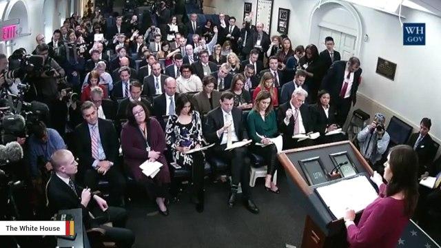 Sarah Huckabee Sanders Has Tense Exchange With CNN's Jim Acosta Over Reporting Errors