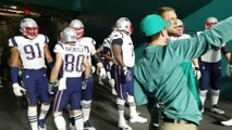 New England Patriots QB Tom Brady leads the Patriots out of tunnel before MNF